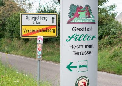 Gasthof-Siller-Strassenschild