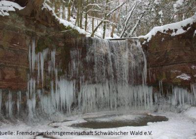 Region_Schwaebischer_Wald-Hoerschbachwasserfall_Winter